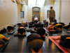 Asana before meditation with Alan