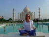 Sarah at the Taj Mahal