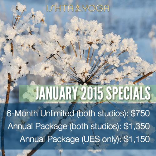 January 2015 Yoga Specials
